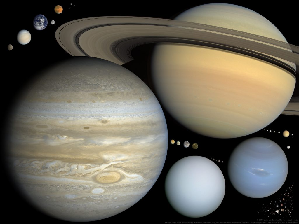 Solar system bodies to scale, by Emily Lakdawalla