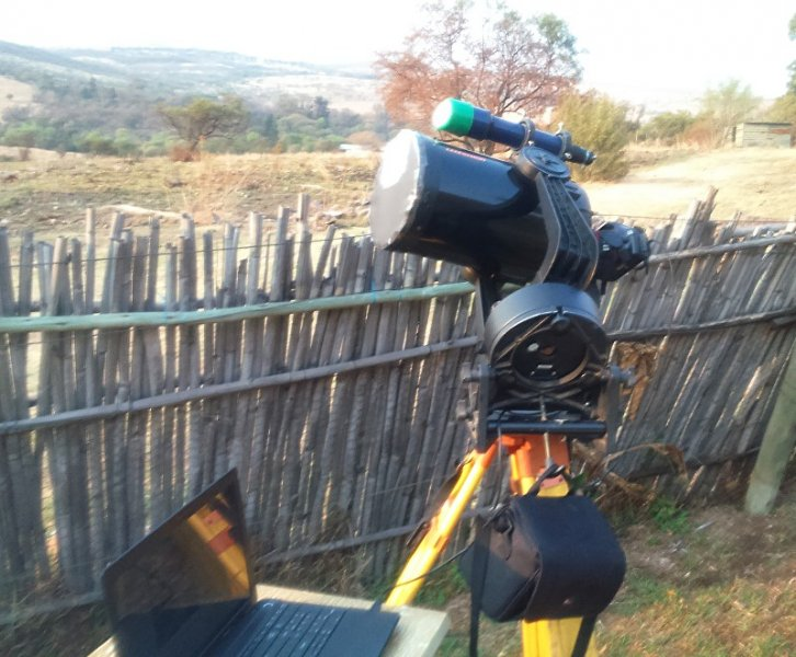 My telescope, adapted for solar photography