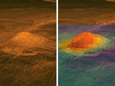 Artists impression of a Volcano on Venus
