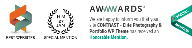 CONTRAST - Elite Photography & Portfolio WP Theme - 1