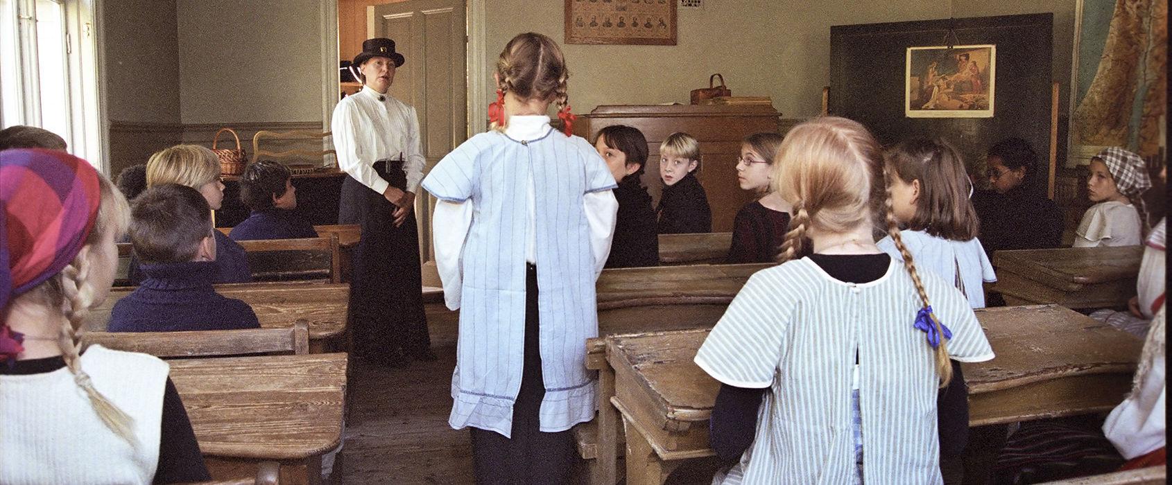 Klassrummet i Väla skola på Skansen