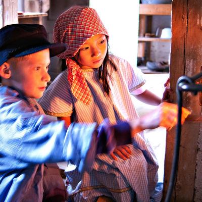 Barn på Skånegården, Skansen