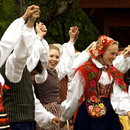 Folkdansare på Skansen