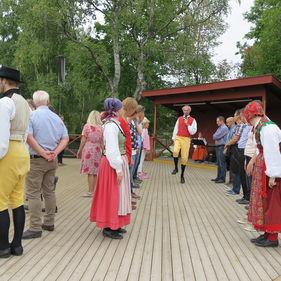 Folkdansintroduktion på Skansen