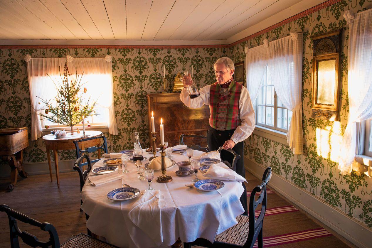 Jul i boktryckarbostaden, Skansen