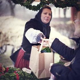 Handel på Skansens julmarknad