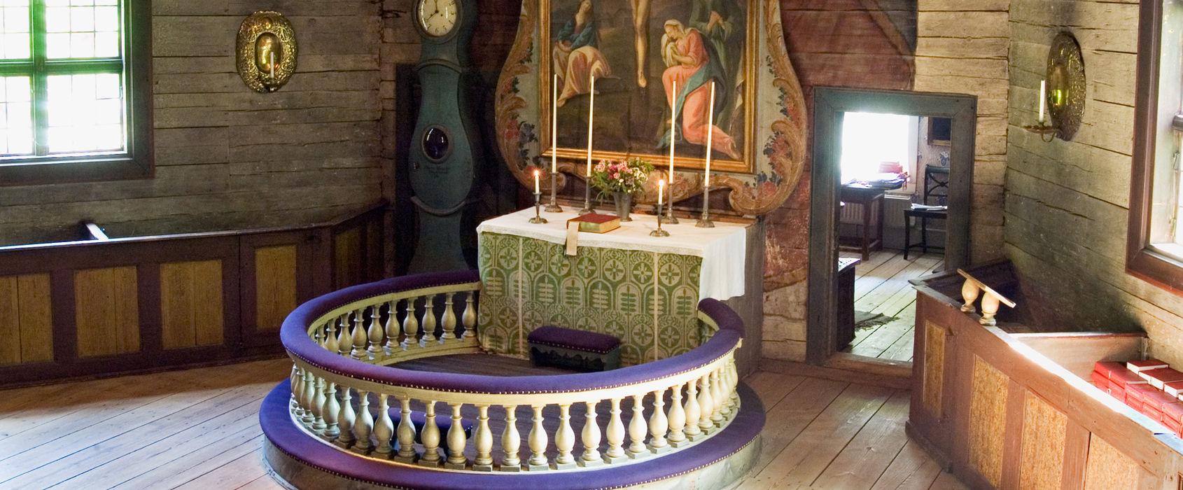 Altaret i Seglora kyrka, Skansen