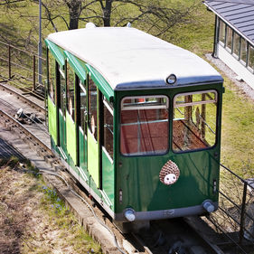 the Funicular railway at Skansen