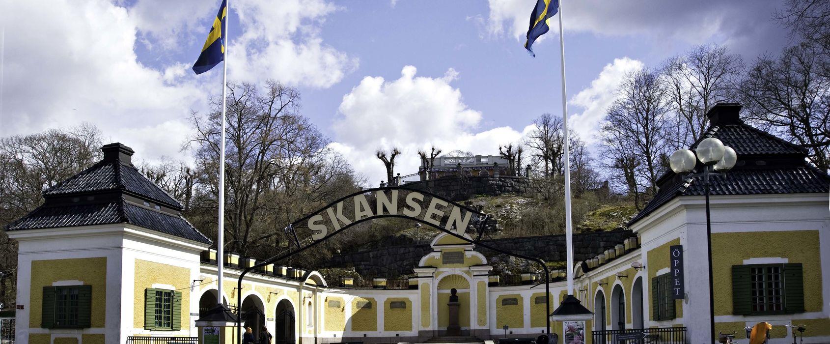 Hazeliusporten, Skansen