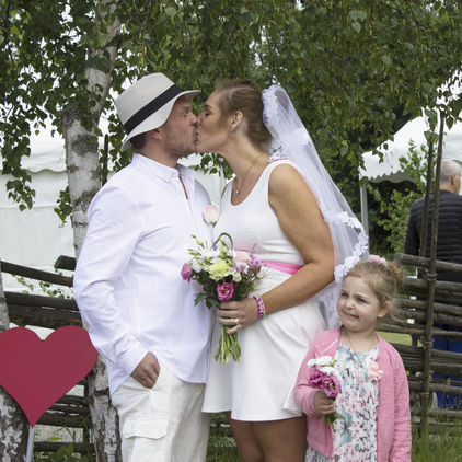 Bröllopspar på Skansen