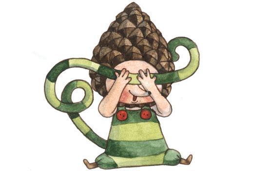 Illustartion av Lill-Skansens maskot Lilla Kott