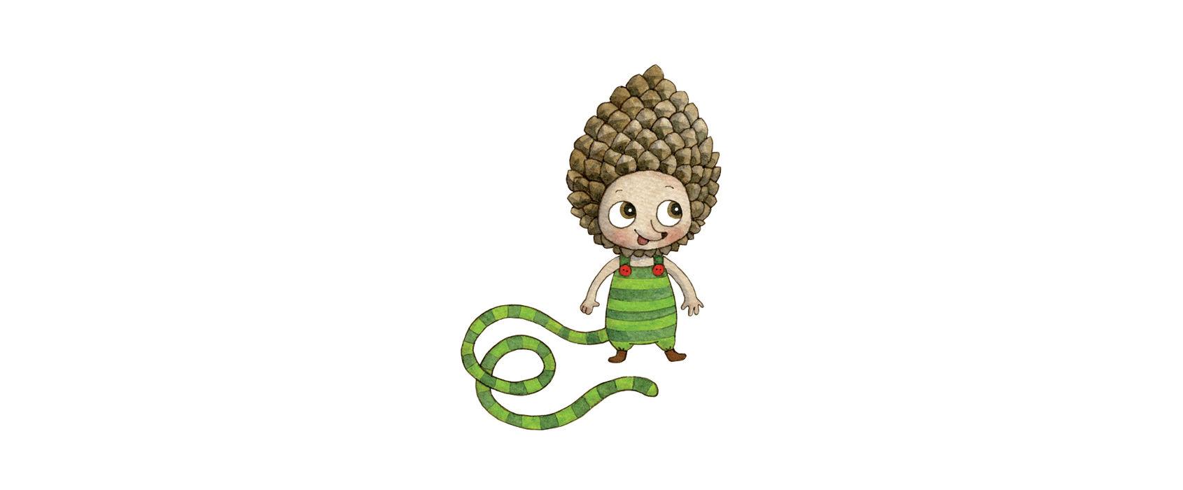 Illustration av Lill-Skansens maskot Lilla Kott