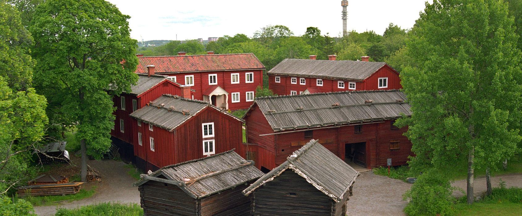 Delsbogården - flygfoto