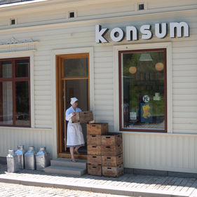 Konsumbutiken, Skansen