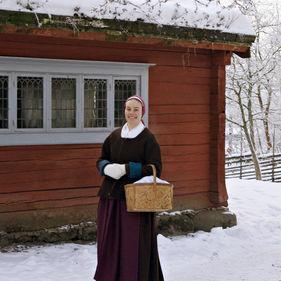 Vinter på Skansen.