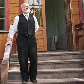 Ordenshuset på Skansen – man hälsar välkommen