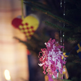 Julpynt på Skansen