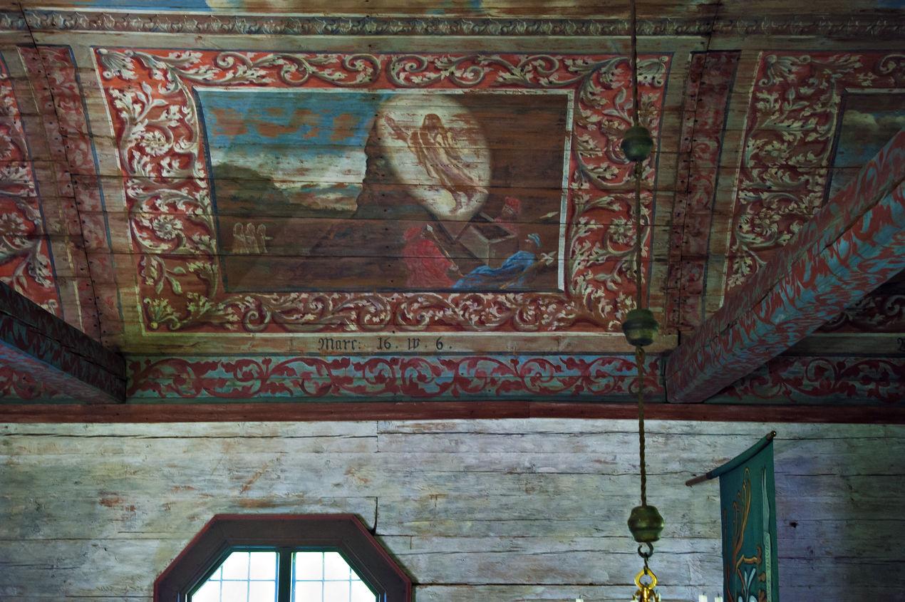 Seglora kyrka interiört taket