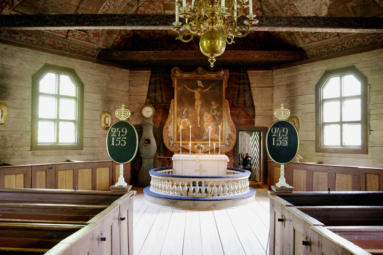 Seglora kyrka interiört