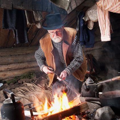 Skogsarbetarkojan  på Skansen
