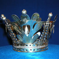 Brudkrona av silver från 1826