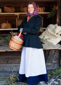 Kvinna på Skansens julmarknad