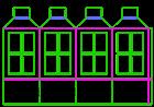 Christmas box lantern template