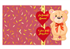 Cute Valentines Bear Quick Card