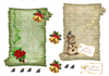 2 christmas scrolls toppers