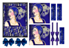 Blue Deco Lady