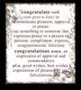 Congratulate single brown inked edge
