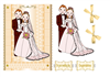 Gold Wedding Day Card Front