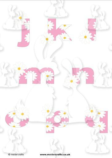 Daisy Chain Pink j-q lowercase