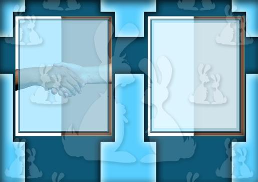 Blue Handshake A5 Insert
