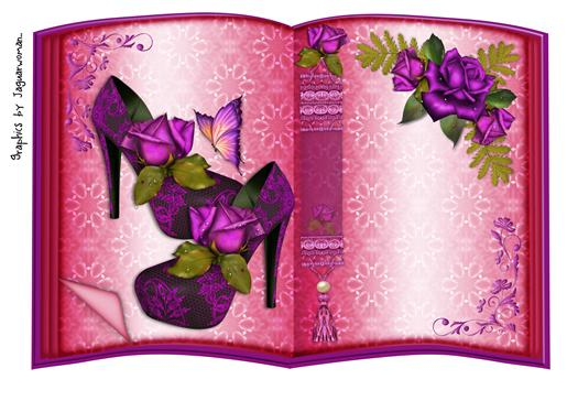 Book Purple Roses and Shoes 1-DWJ
