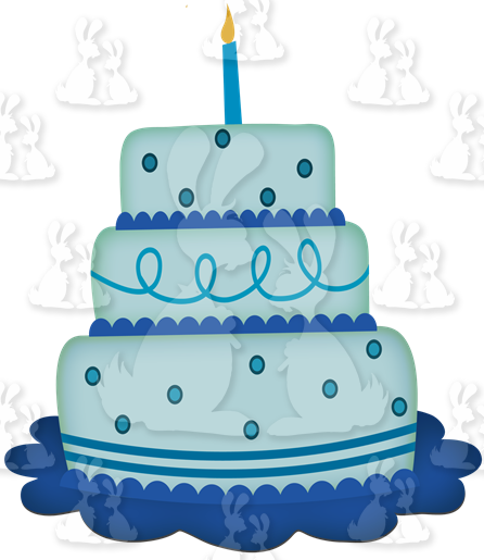 Birthday Cake Blue Designer resource