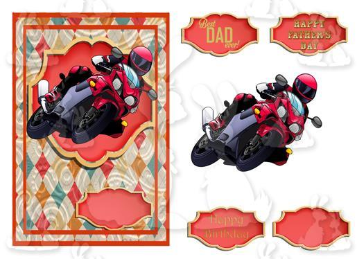 Fathers Day or Birthday(A5 Card No 38R)