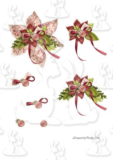 Poinsettia Shaped Spring Card Layers