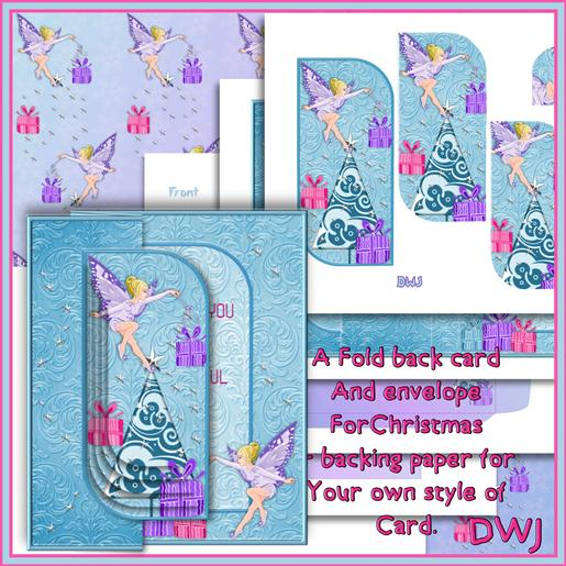2 Foldback Fairy Christmas kit-DWJ