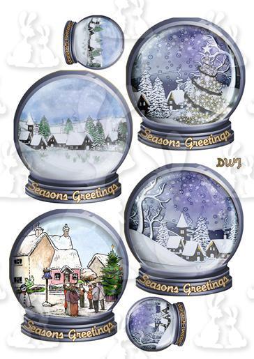1 Snow Globe Toppers-DWJ