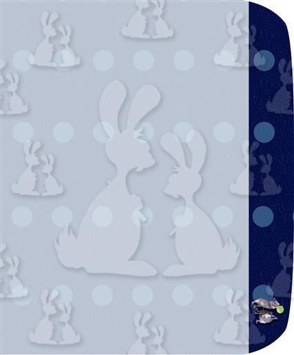 Blue Party Rats A5 Envelope Liner