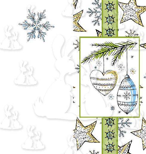 Stary Winter Baubles DL Card