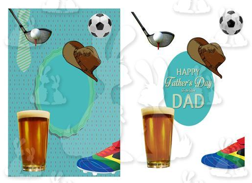Fathers Day or Birthday(A5 Card No 36R)