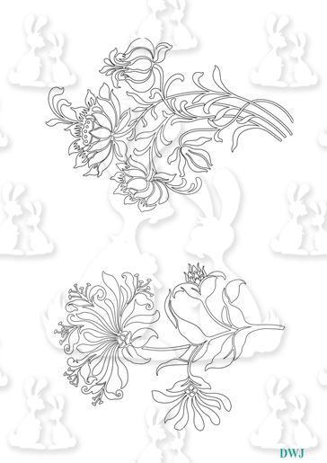 Floral Digi Stamps-DWJ