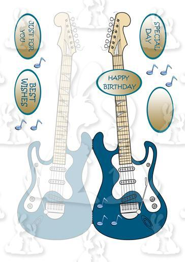 Guitar Shaped Card