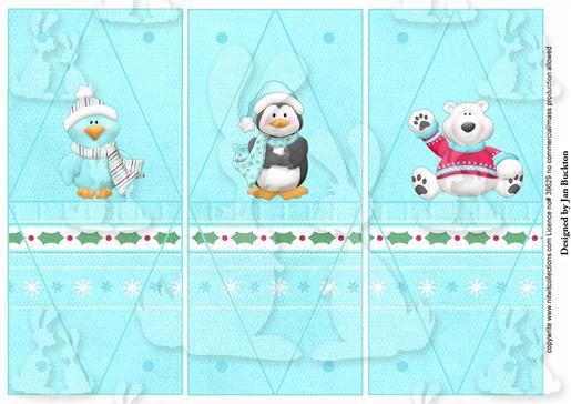 Triangle Gift Boxes - Polar Pals
