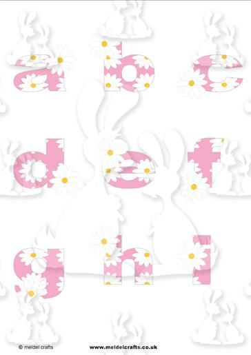Daisy Chain Pink a-i lowercase