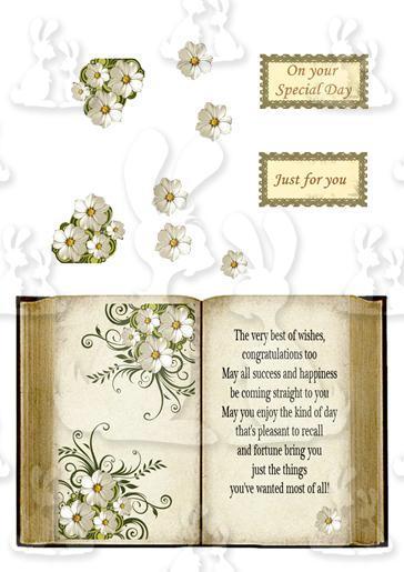 floral book card