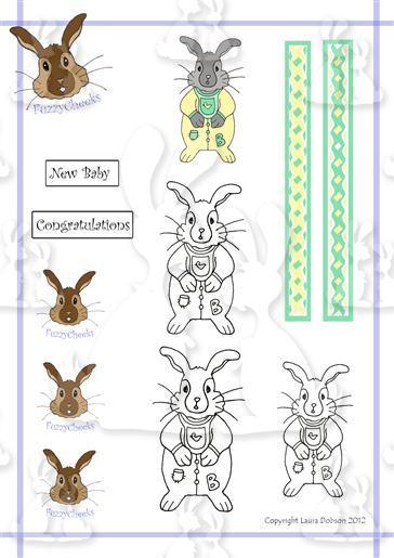 FuzzyCheeks Digi Stamps New baby
