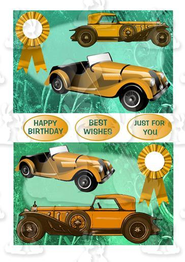 Two Vintage Car Toppers (Bronze)